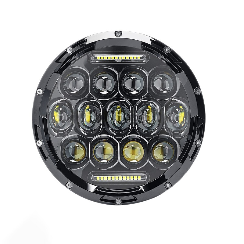 7 inch round LED headlight 75W motorcycle headlight projector for Jeep TJ JK Land Rover