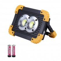 100W LED Portable Spotlight 3000lm Super Bright LED Work Light Rechargeable Camping Light 18650