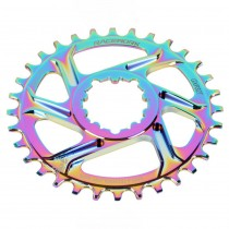 RACEWORK mountain bike electroplating hollow integrated tooth disc GXP crank single disc 30T to 38T modified colorful disc