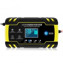Car motorcycle battery charger 12/24V 8A touch screen pulse repair LCD battery charger