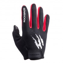 ROCKBROS touch screen bicycle bike full finger gloves gel filled breathable shockproof men and women
