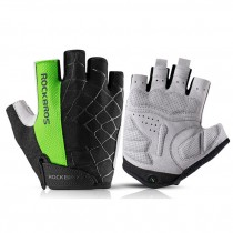 ROCKBROS Cycling Gloves Half Finger Shockproof Wear Resistant Breathable MTB Road Bicycle Gloves