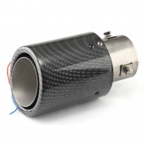 Glossy Carbon Fiber Luminous Tail Throat Led Light Universal Stainless Steel Straight Exhaust System