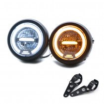 6.5 inch Universal Cafe Racer retro motorcycle LED headlights modified motorcycle headlights