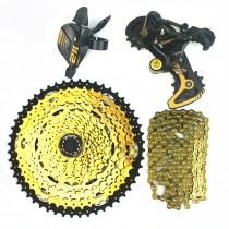 LTWOO AT12 kit 12 gear lever rear derailleur cassette 52T YBN chain gold suitable for Shimano