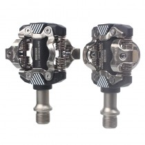 RACEWORK MTB Pedals Mountain Bike AlL-alloy Cr Mo Steel Self-locking With Clips Doubleside SPD Clipless Pedal