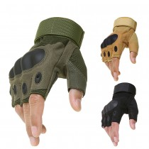 Hiking hunting climbing bike gym riding half finger gloves