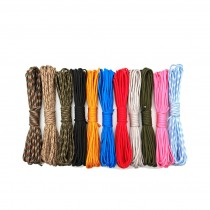 10M 20M 30M Paracord 550 Paracord Parachute Cord Lanyard Rope Mil Spec Type III 7 Strand Climbing Camping