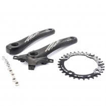 RACEWORK Bicycle crank sprocket 104BCD MTB Bike Square Hole 170mm Crank 32T 34T 36T 38T Round Narrow Width Chainring