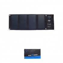 High power 3 USB Ports 28W 5V Foldable Waterproof Solar Charger With SunPower Solar Panel for phone tablet