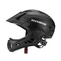 ROCKBROS Child Safety Helmet One-piece Breathable Ultra-light One-piece Full Cover Removable Bicycle Child Helmet