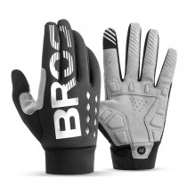 ROCKBROS bicycle gloves shockproof, breathable, long, warm and wear-resistant SBR gloves for men and women