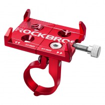 ROCKBROS universal aluminum bicycle mobile phone holder for 3.5-6.2 inch mobile phones