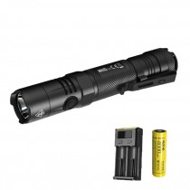 Nitecore R40 V2 USB Rechargeable 1200 Lumens Beam Projection Flashlight 3500mah Battery Adapter