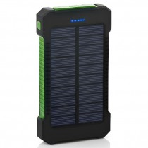 Solar Power Bank 20000mAh Solar Charger USB Ports External Charger Powerbank with LED Light