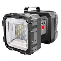 Super Bright Double Head Flashlight Searchlight USB Rechargeable Portable Outdoor Emergency Light